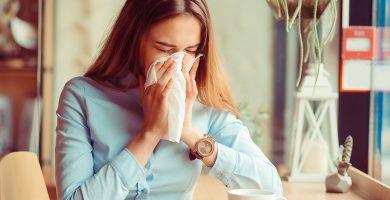 constipação alergia no outono