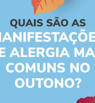 Manifestações de alergia mais comuns no outono