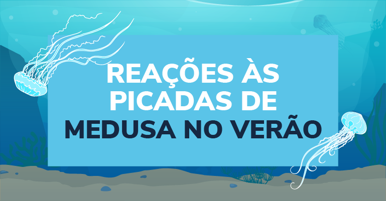 Reações às picadas de medusa no verão